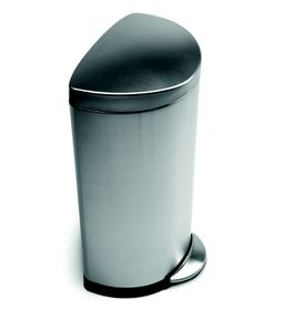 SimpleHuman - 30 Litre Semi Round - Deluxe Brushed