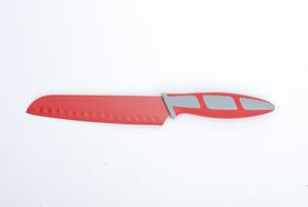 Kitchen Dao - RV2225 6.5 Inch Non-Stick Santoku Knife - Red