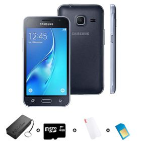 Samsung GALAXY J1 Mini DS 8GB 3G - Black - Bundle incl. 1.2GB Starter Pack + Accessories