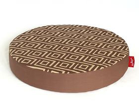 Wagworld - Lazy Lounger Round - Geo Camel and Chocolate