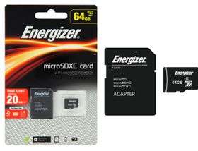 Energizer 64GB Micro SD With Adapter
