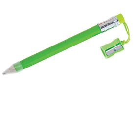 Holbay Pens Jumbo HB Pencil with Sharpener - Lime Green