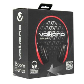 Volkano Boom Series Headphones - Red