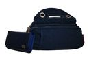 Fino Washed Nylon Bag + Pu Leather Purse Set - Navy Blue (SK7730 + 1501-093)