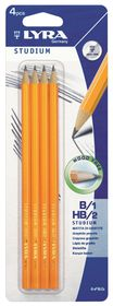 Lyra Studium 4 Graphite Pencils - Blister of 2xHB 2xB