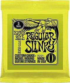 Ernie Ball 3221 Regular Slinky Electric Guitar Strings - 3 Pack