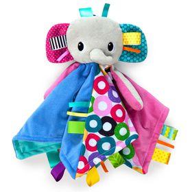 Brightstarts - Cuddles 'N Tags Blankie - Elephant
