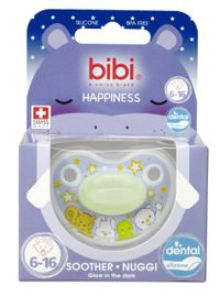 Bibi - 6-16m Silicone Soother - Glow In The Dark