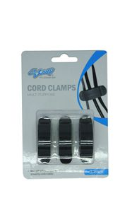 SCOOP Cord Clamps Pack 3 Pcs/Set Large 5 Wire Slot - Black