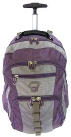 Tosca Trolley Laptop Backpack 17 Inch - Purple