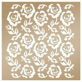 Couture Creation Anna Griffin 8 x 8 Stencil - Rose Trellis