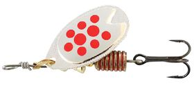Abu Garcia - Fast Attack Spinners Bait - Silver & Red Dot - 7g