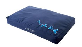 Rogz - Extra-Large Flat Pods Dog Bed - Navy Zen Design