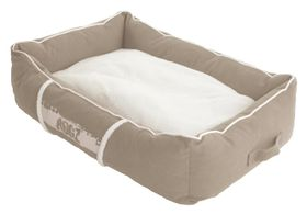 Rogz - Large Lounge Pod Large Dog Bed - Stone