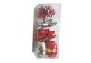 Ribbon & Bow Poly Mix Pack - Shiny Red & Silver