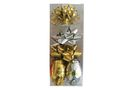 Ribbon & Bow Poly Mix Pack - Shiny Gold & Silver