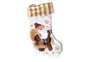 Christmas Stocking - White With Santa (45cm)