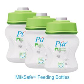 PUR - Milk Safe Vacuum Storage Bottles - 3 Pack (150ml)
