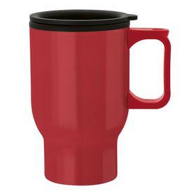 Eco - 475ml Double Wall Polypropylene Mug - Red