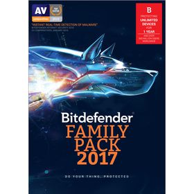 Bitdefender 2017 Family Pack Internet Security