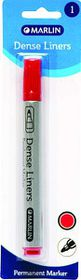 Marlin Dense Liners Permanent Marker - Red