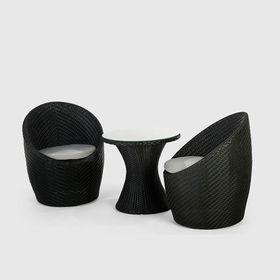Cielo - Adena 3 Piece Patio Set - Black