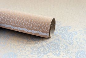Lady Pattern Paper Kraft Essentials Lucy Lace - Metallic Silver (10 Sheets)
