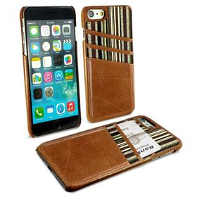 Tuff-Luv Alston Craig Slim Shell and Card Holder for Apple iPhone 7 - Brown