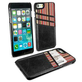 Tuff-Luv Alston Craig Slim Shell and Card Holder for Apple iPhone 7 - Black