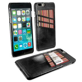 Tuff-Luv Alston Craig Slim Shell and Card Holder for Apple iPhone 7 Plus - Black