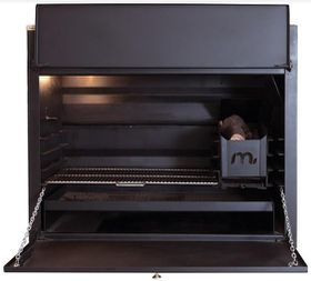 Megamaster - 1000 Deluxe Built in Braai - Black