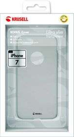 Krusell Bohus Cover for iPhone 7 - Transparent Grey