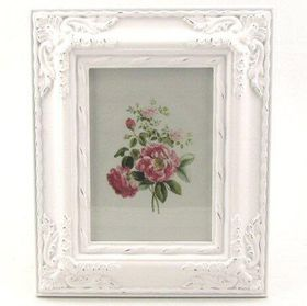 Pamper Hamper - Ornate Vintage Single Photo Frame - White