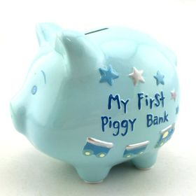 Pamper Hamper - Blue My First Piggy Bank - Blue