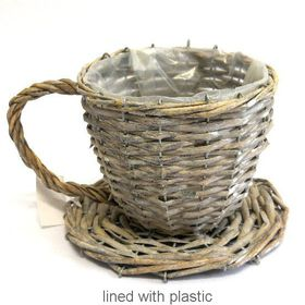 Pamper Hamper - Wicker Teacup - Grey