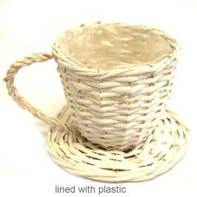 Pamper Hamper - Wicker Teacup - White