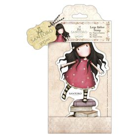 Docrafts Gorjuss Large Rubber Stamp - New Heights