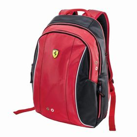Ferrari Limited Edition Expandable Teen Backpack - Black/Red