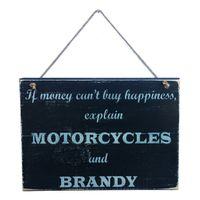 Prettish Motorcycle Happiness Sign - Brandy