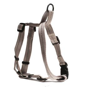 Dog's Life - Reflective Super Soft Webbing H Harness - Extra-Large - Grey