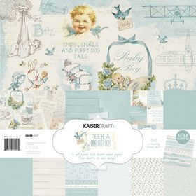 Kaisercraft Peek-A-Boo Boy 12x12 Paper Pack