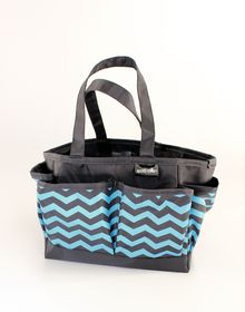 Spoilt Rotten Small Bag - Cool Chevron - Blue