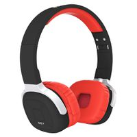 Foldable Nfc Bluetooth 4.1 Headset Smart Pedometer Sports Headphone - Black And Red