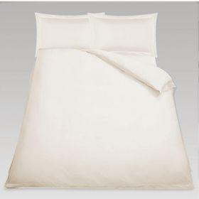 Simon Baker - Oxford Satin Stitched Cotton Percale 3 Piece Duvet Set - Cream