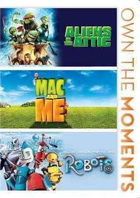 Aliens in the Attic/Mac and Me/Robots - (Region 1 Import DVD)