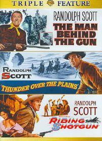 Man Behind the Gun/Thunder Over the Plains/Riding Shotgun - (Region 1 Import DVD)