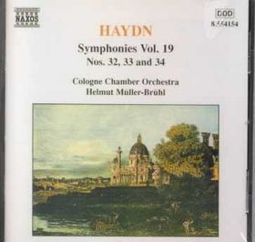 Cologne Chamber Orchestra - Symphonies Nos.32-34 (CD)