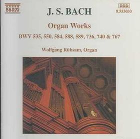 Wolfgang - Bach: Org Works (CD)