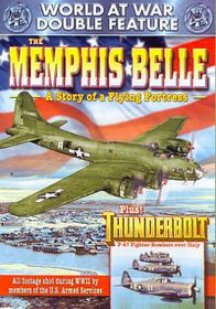 WWII - World at War Double Feature: The Memphis Belle: A Story of a Flying Fortress/Thunderbolt - (Region 1 Import DVD)
