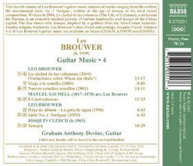 Brouwer: Guitar Music Vol 4 - Guitar Music - Vol.4 Ciudad De Las Columnas (CD)